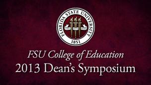 COE Deans Symposium Webcast 2013