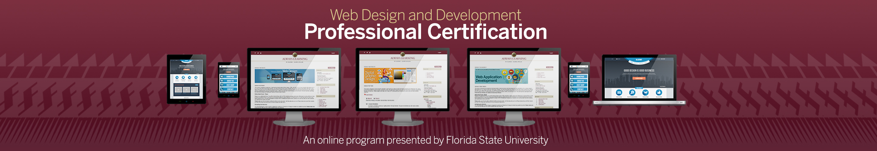 Web design and development professional certification florida web design and development professional certification florida state university learning for life xflitez Gallery
